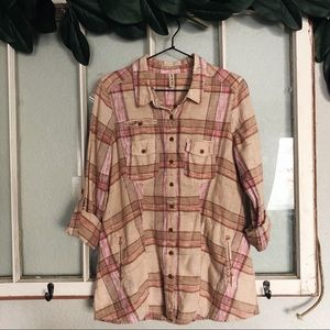 (FREE PEOPLE) flannel sz M